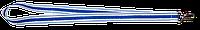Ленты для бейджей 20 мм с карабином белый/василёк