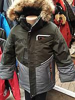 Зимние детские куртки НА МЕХУ.