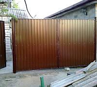 Ворота профлист (розпашні) 2500*2500, фото 1