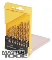 MasterTool  Набор сверл для металла, 13 шт HSS титан(2-8 мм, шаг 0,5 мм) в пластиковой коробке, Арт.: 11-0413