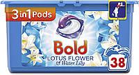 Капсулы для стирки универсал Bold Lotus Flower 3 in 1 38 капс.