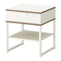 """IKEA """"ТРИСИЛ"""" Тумба прикроватная, белый, светло-серый"""