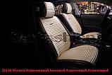 """Накидки универсальные """"CarFashion"""" MONACO FRONT на передние сидения авто бежевые, фото 10"""