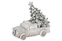 Декоративная фигурка Машина с елкой, 12см