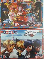 Пазлы 60 элементов микс (8 шт в блоке) Любимые герои мультфильмов