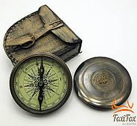 Сувенирный компас в кожаном футляре