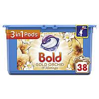Капсулы для стирки универсал Bold Gold Orchid  3 in 1 38 капс.