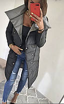Стильная молодежная женская двухсторонняя куртка (Норма), фото 3