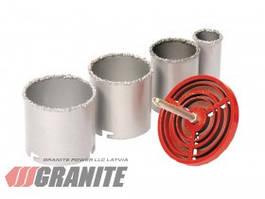 GRANITE  Набор корончатых сверл для плитки 4 шт 33-73 мм, вольфрамовое напыление, GRANITE, Арт.: 2-08-004