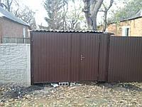 Ворота профлист з хвірткою, фото 1
