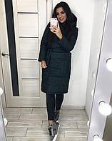 Женская куртка по колено с накладными карманами, фото 1