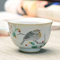 Пиала для чая керамическая Птица на ветке