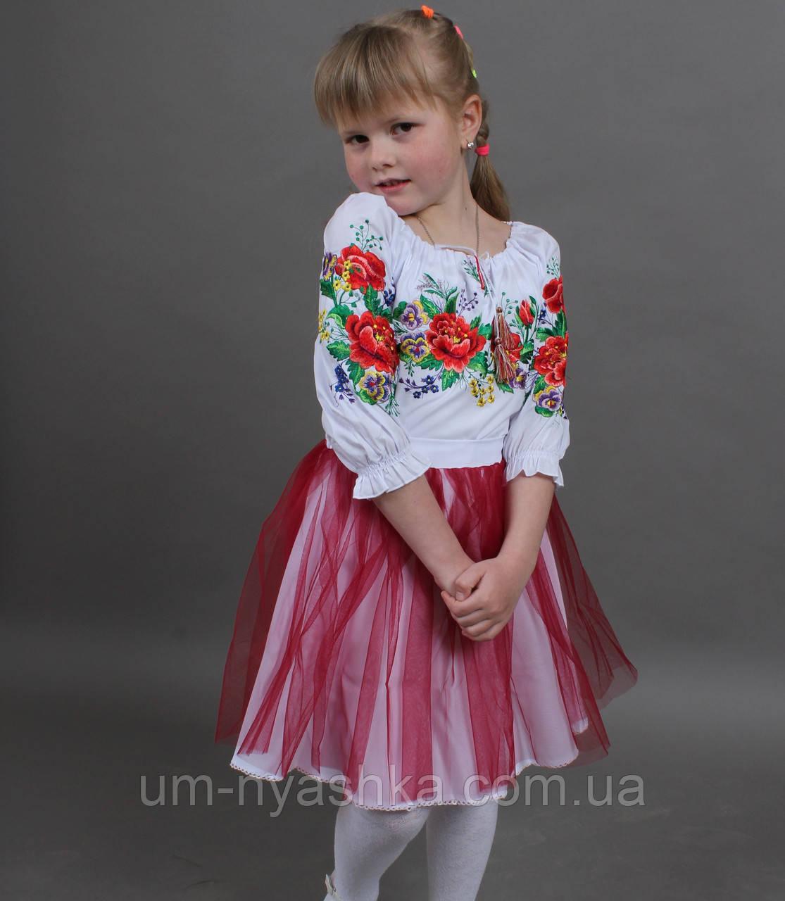 """Дитяча блузка з вишивкою - вишиванка """"Ладочка"""""""