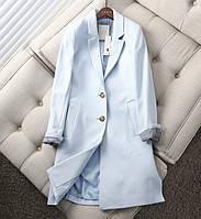 Качественное демисезонное пальто женское голубого цвета Esprit размер М