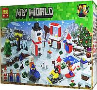 """Конструктор Bela 11029 (Аналог Lego Minecraft) """"Зимние игры""""239 деталей, фото 1"""