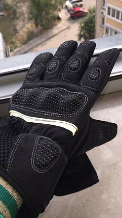 длинные мото перчатки с защитой Racing Tribe Madbike Probike, фото 2