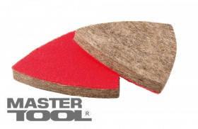 MasterTool  Насадка треугольная войлочная грубошерстная на липучке для реноватора 85 мм, 10 шт, Арт.: 08-6598
