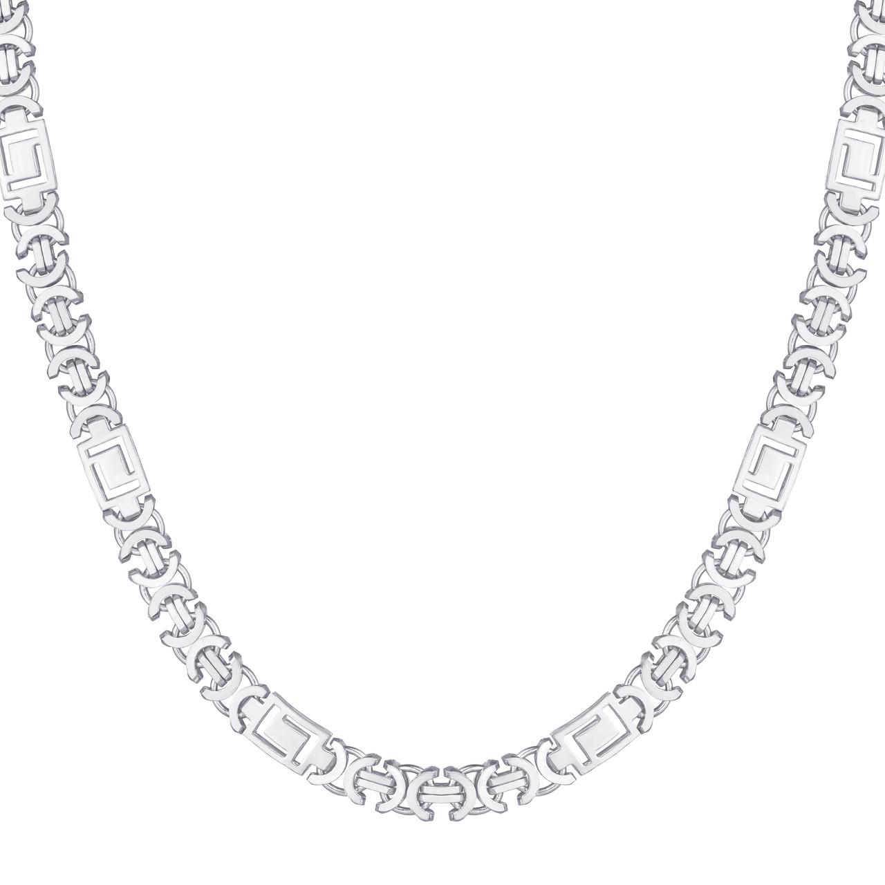 Серебряная цепочка ЕВРО ВЕРСАЧЕ родированная 65 см