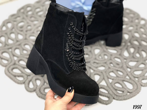 Ботинки женские с цепочкой, фото 2