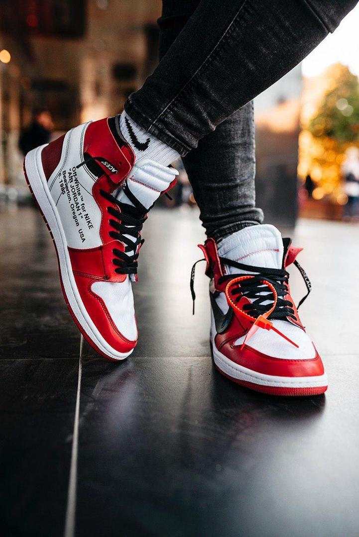 "Кроссовки мужские Nike Air Jordan 1 ""Off-White"""