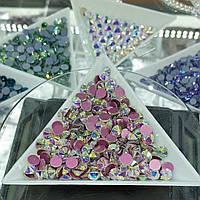 "Стразы ss12 Crystal AB (3,0мм) 100шт ""Crystal Premium"" розовая подложка"
