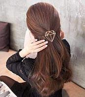 Заколка для волос Бриллиант (цвет серебро), фото 1