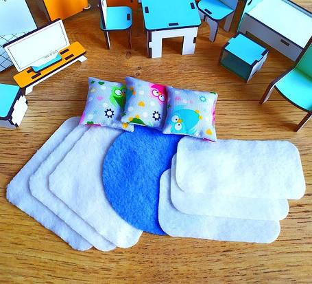 Набор текстиля для маленьких кукол LOL 1107. 10 предметов, фото 2