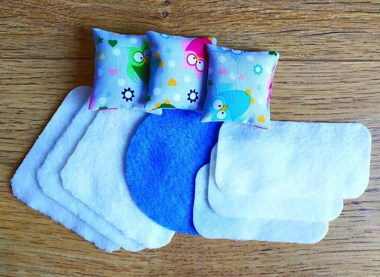 Набор текстиля для маленьких кукол LOL 1107. 10 предметов
