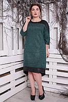 Платье ангора трикотаж люрекс зеленый 52, 54 р