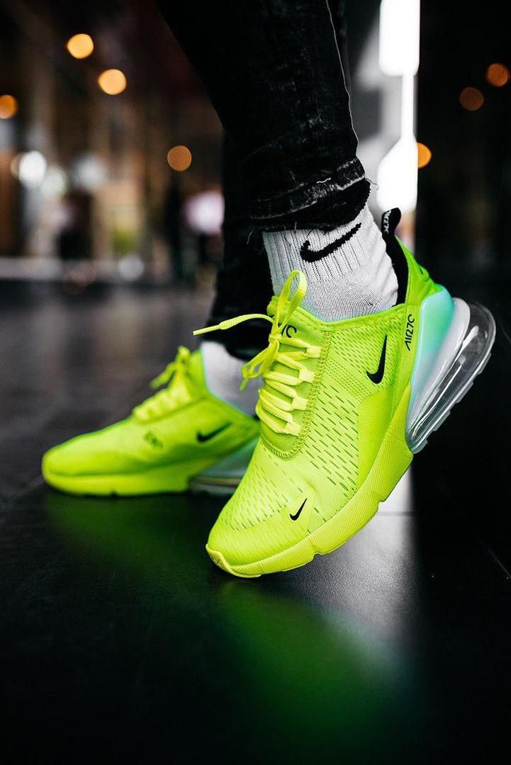 "Кроссовки мужские Nike Air Mаx 270 ""GreenNeon/White"""
