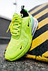 "Кроссовки мужские Nike Air Mаx 270 ""GreenNeon/White"", фото 7"