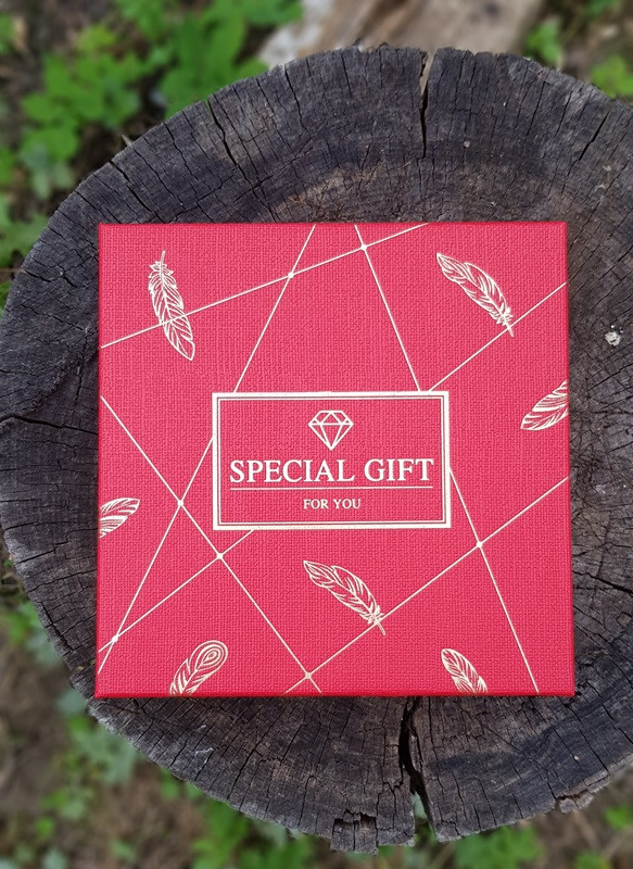 "Коробка подарочная квадратная  "" Special Gift  ""  ,   красная                          1 шт"