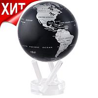 """Глобус самовращающийся левитирующий Mova Globe """"Политическая карта"""", черный, диаметр 114 мм (США)"""