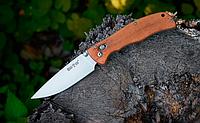 Нож складной, с деревянной рукояткой, дополнительно легированной молибденом и ванадием, теплый на морозе, фото 1