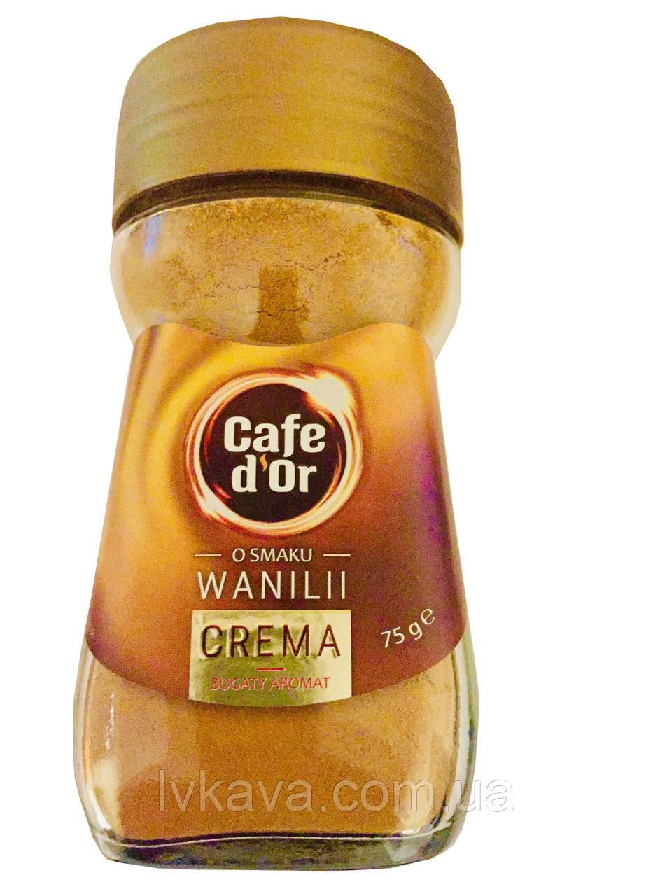 Кофе растворимый Cafe d Or Crema со вкусом ванили , 75 гр