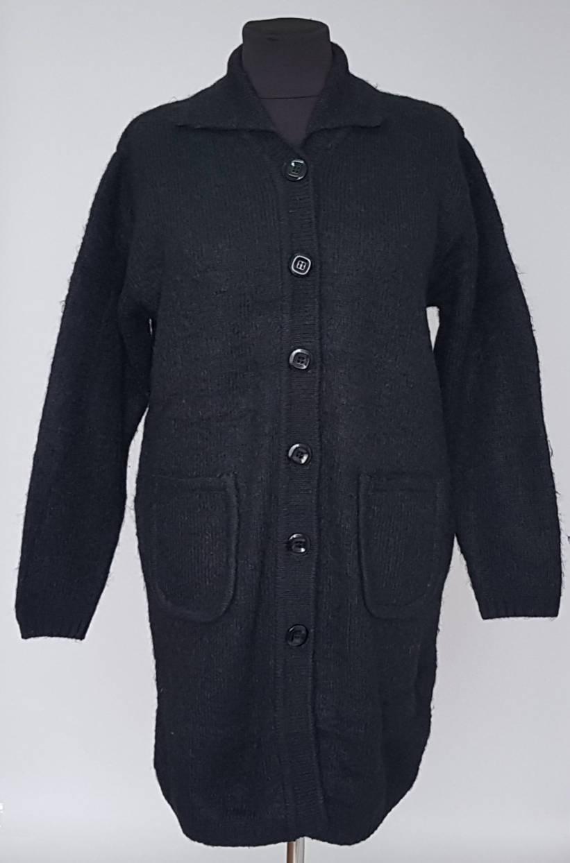 Женский кардиган пальто из индийской шерсти на пуговицах