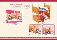 Игрушечная кровать для кукольного домика Happy family (аналог Sylvanian Families), для ЛОЛ, фото 1