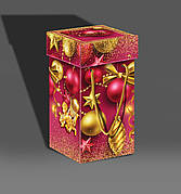 Упаковка праздничная новогодняя из картона Ёлочные украшения, до 1кг, от 50 штук