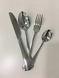 Набор столовых приборов 4 предмета серебро, фото 3