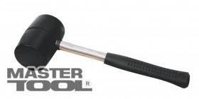 MasterTool  Киянка резиновая черная 90 мм 1250 г металлическая рукоятка, полукруглый боек, Арт.: 02-1305