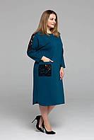 Красивое женское платье  свободного кроя  больших размеров с 54 по 62