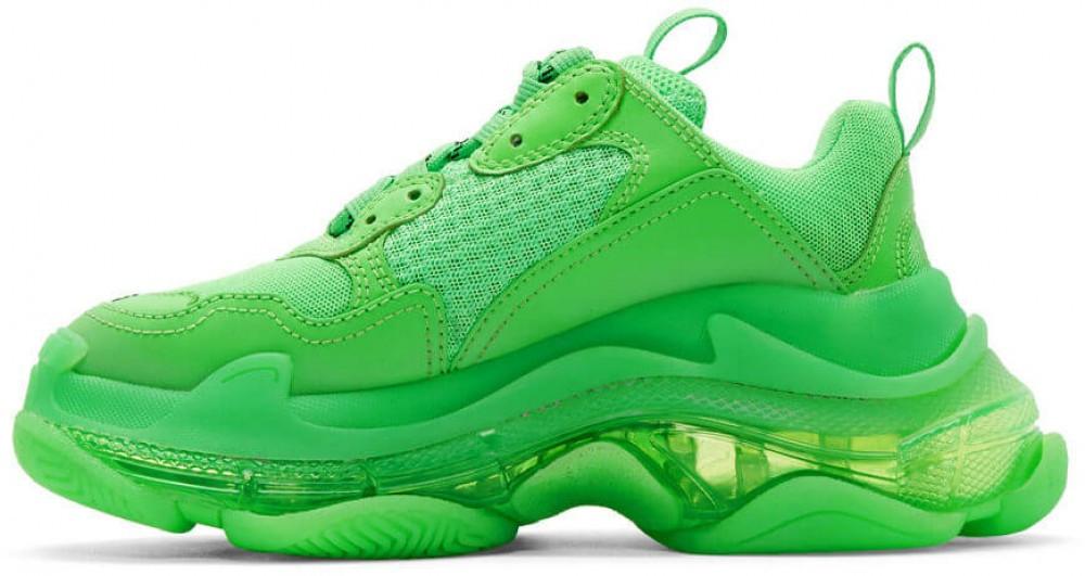 Кроссовки Balenciaga Triple S Trainers Neon Green