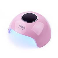 Сенсорная гибридная лампа Star 6 UV LED 24 W, розовая
