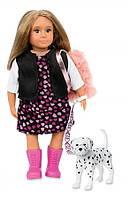 Кукла игрушка Гиа с собачкой Далматинец 15 см LORI LO31058Z