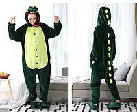 Пижама Кигуруми Дракон зеленый микрофибра
