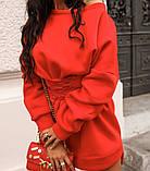 Туника женская с поясом.  Цвета: чёрный, белый , красный, фото 6