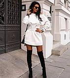Туника женская с поясом.  Цвета: чёрный, белый , красный, фото 8