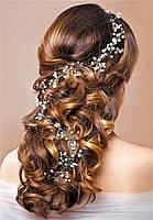 Нить для волос с жемчугом и камнями 1,0м, фото 1