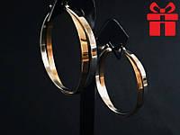 """🔥✅Серьги кольца """"Мультиколор"""" 4,5 см * 6 мм XUPING. Позолота, медицинское золото, бижутерия, XP"""