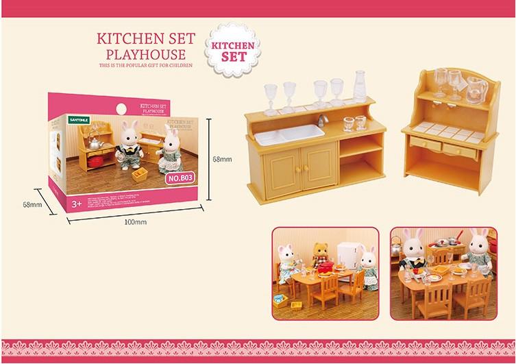 Мойка + шкаф с посудой (аналог Sylvanian Families), для ЛОЛ